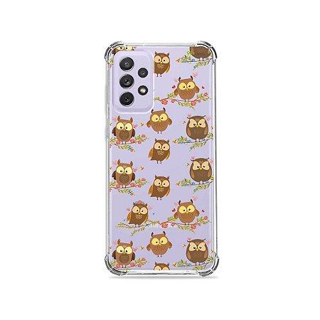 Capa (Transparente) para Galaxy A72 - Corujinhas