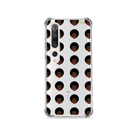 Capa (Transparente) para Xiaomi Mi 10 Pro - Black Girl