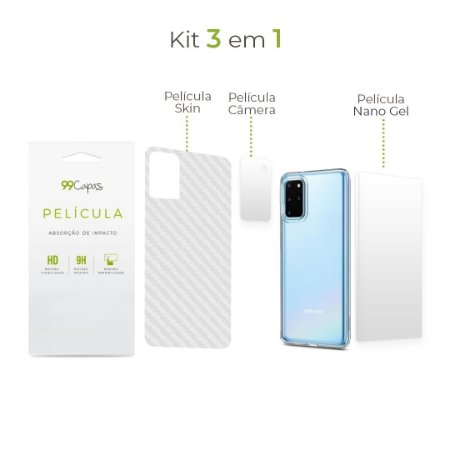 Kit de Películas 3 em 1 para Galaxy S20 Ultra