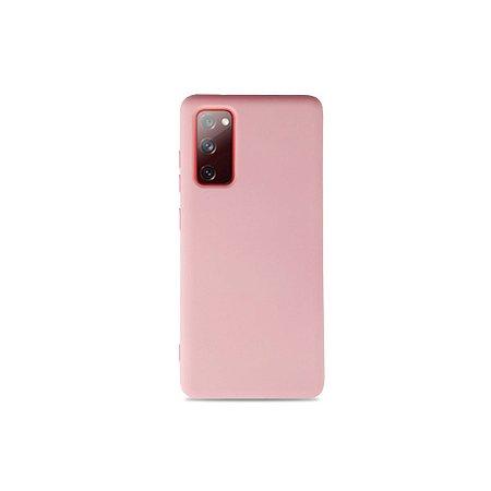 Silicone Case Rosa para Galaxy S20 FE
