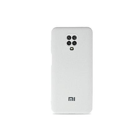 Silicone Case Branca para Redmi Note 9 Pro (com proteção para câmera)