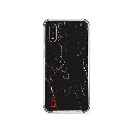 Capa para Galaxy A01 - Marble Black