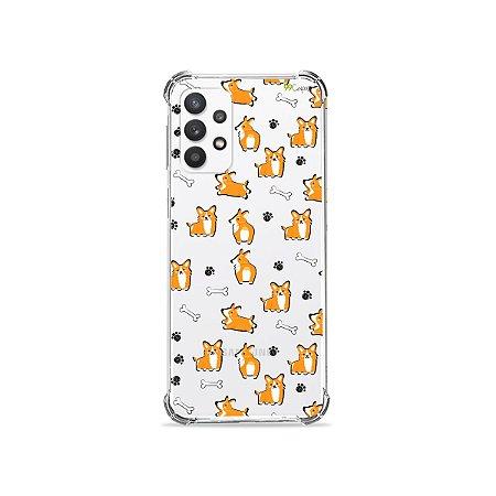 Capa (Transparente) para Galaxy A32 4G - Cãozinho