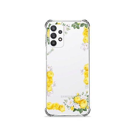 Capa (Transparente) para Galaxy A32 4G - Yellow Roses