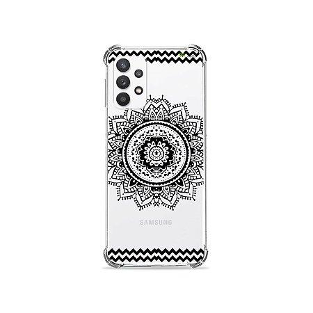 Capa (Transparente) para Galaxy A32 4G - Mandala Preta