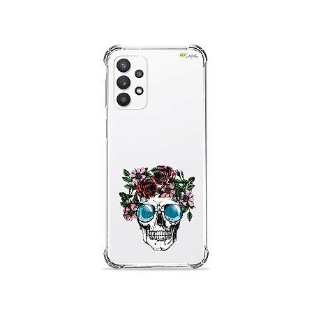 Capa (Transparente) para Galaxy A32 4G - Caveira
