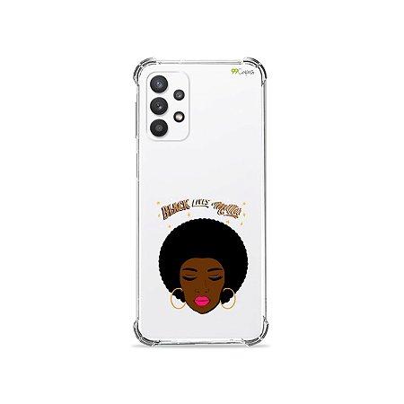 Capa (Transparente) para Galaxy A32 4G - Black Lives