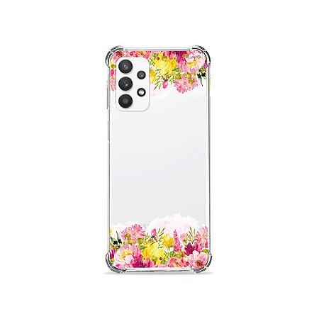 Capa (Transparente) para Galaxy A32 4G - Botânica