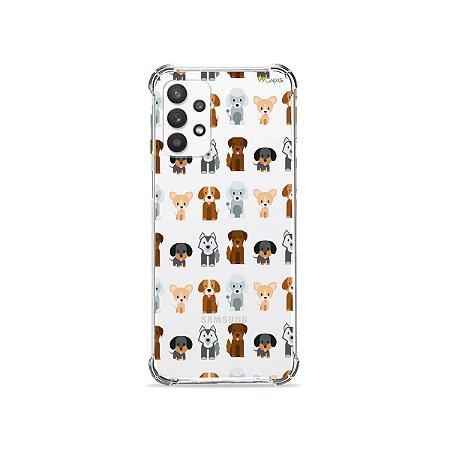 Capa (Transparente) para Galaxy A32 4G - Doguinhos