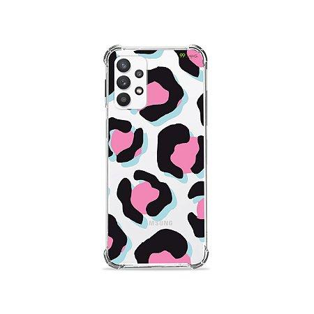 Capa (Transparente) para Galaxy A52 - Animal Print Black & Pink