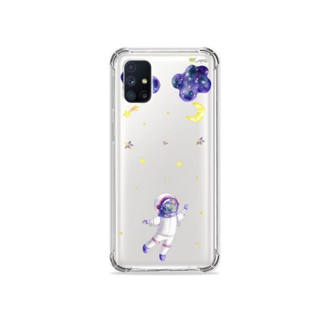 Capa (Transparente) para Galaxy M51 - Astronauta Sonhador