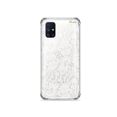 Capa (Transparente) para Galaxy M51 - Rendada