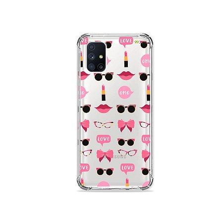 Capa (Transparente) para Galaxy M51 - Girls