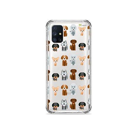 Capa (Transparente) para Galaxy M51 - Doguinhos
