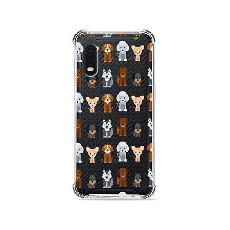Capa (Transparente) para Galaxy XCover Pro - Doguinhos