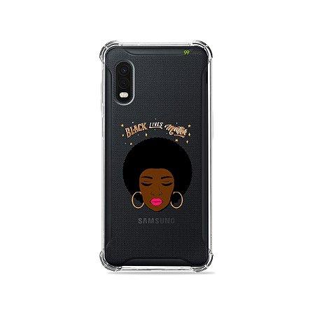 Capa (Transparente) para Galaxy XCover Pro - Black Lives