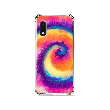 Capa para Galaxy XCover Pro - Tie Dye Roxo