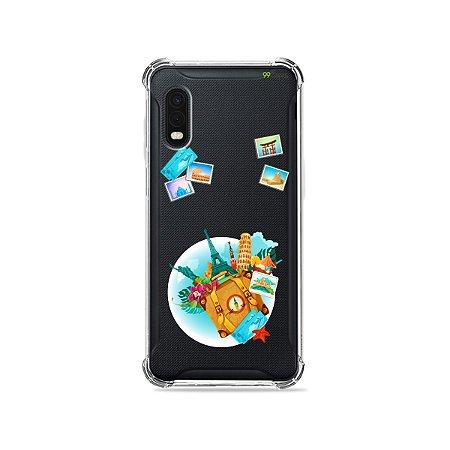 Capa (Transparente) para Galaxy XCover Pro - Memórias