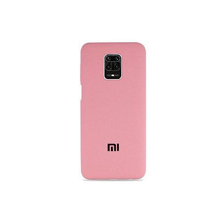 Silicone Case Rosa para Redmi Note 9 Pro (Aveludada)