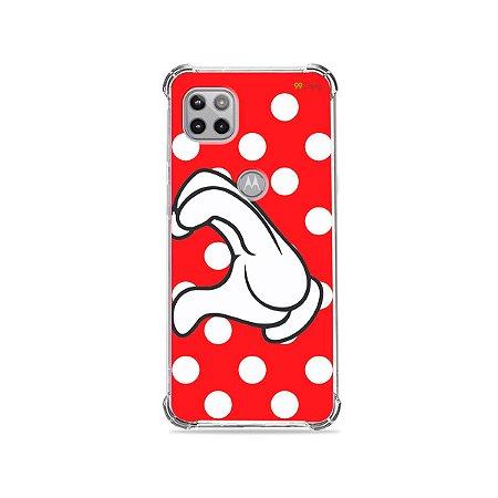 Capa para Moto G 5G - Coração Minnie