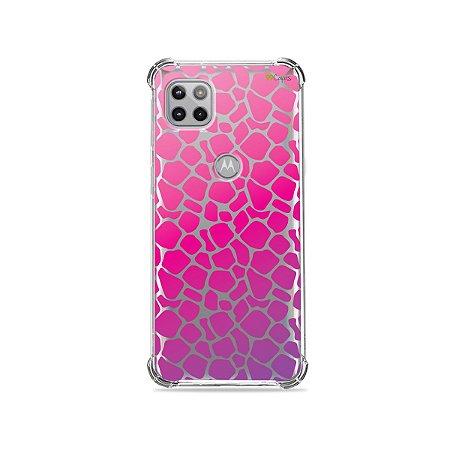 Capa (Transparente) para Moto G 5G - Animal Print Pink