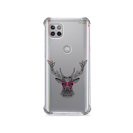 Capa (Transparente) para Moto G 5G - Alce Hipster
