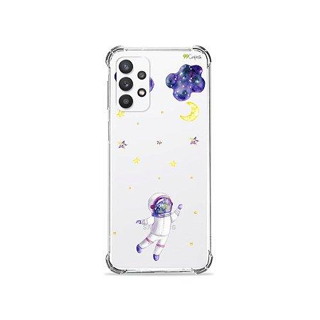 Capa (Transparente) para Galaxy A32 5G - Astronauta Sonhador