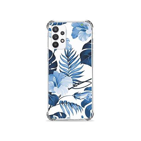 Capa para Galaxy A32 5G - Flowers in Blue
