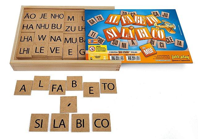 Jogo Educativo Alfabeto Silábico 156 pçs em MDF - Jottplay