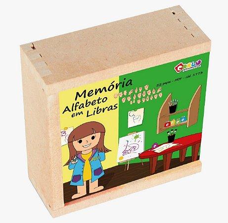 Brinquedo Educativo Memoria Alfabeto Em Libras Em MDF - Carlu
