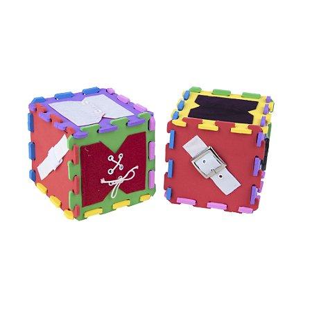 Cubo de atividades - EVA - 12 pc - Emb. plast.