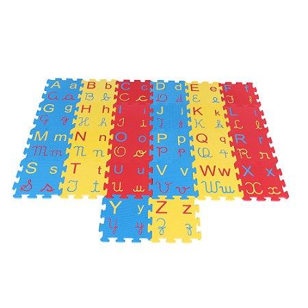 Tapete alfabeto 4 em 1 - EVA - 26 pc - Emb. c/ ziper