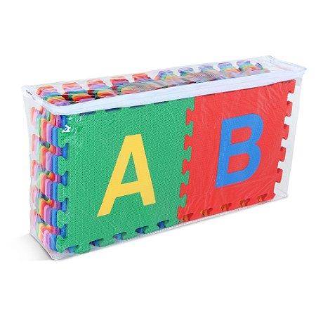 Tapete alfabeto - EVA - 26 pc - Emb. c/ ziper