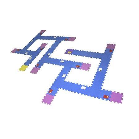 Braille - labirinto passo a passo -EVA -60 pc -Emb. c/ ziper