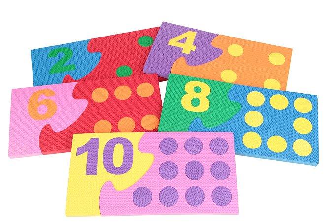 Numerais e quantidades em EVA – 10 bases – Emb. PVC