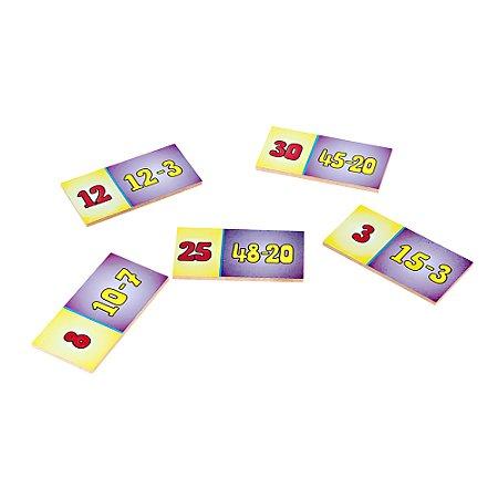 Domino subtracao - MDF - 28 pc - Cx. mad.