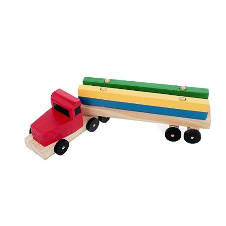 Caminhão Transcaibro - Mad. - 4 pc - PVC enc.