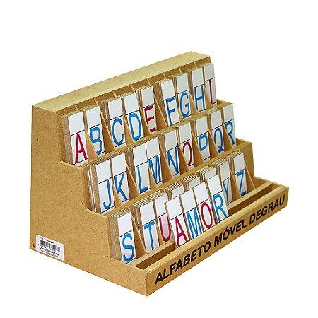 Alfabeto mov degrau - MDF - 130 pc - PVC enc.