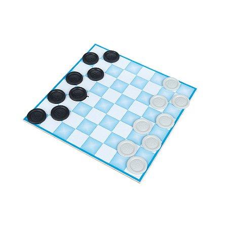 Jogo de damas 20 x 20cm - MDF - 24 pc - Emb. plast.