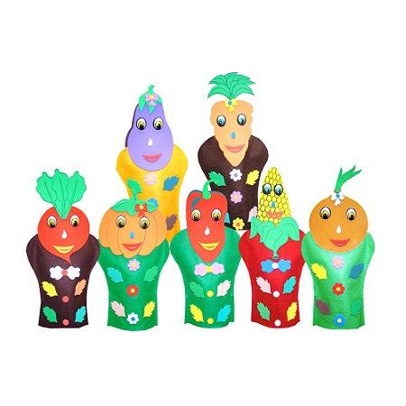 Fantoches legumes - Feltro - 7 pers. - Emb. plast.