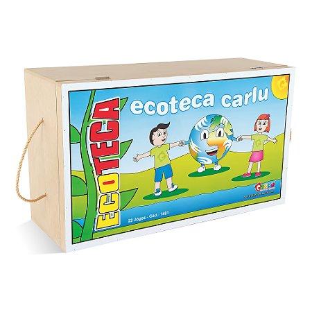 Ecoteca - 23 jogos - 2 maletas MDF - Cx. papelao