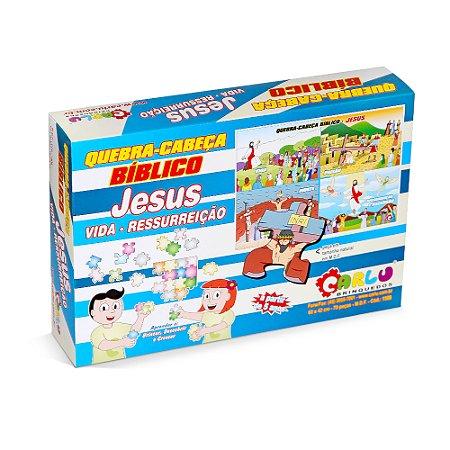 Quebra Cabeça biblico - Jesus, vida -ressurreicao-MDF 70 pc-Cx.Papel