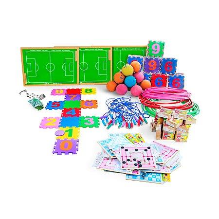 Kit recreacao e lazer - 10 jogos - Caixas de papelao