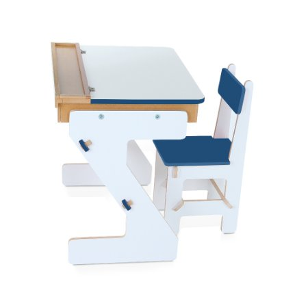 Mesa versatil Azul  - MDF - 4 pc - Cx. papelao