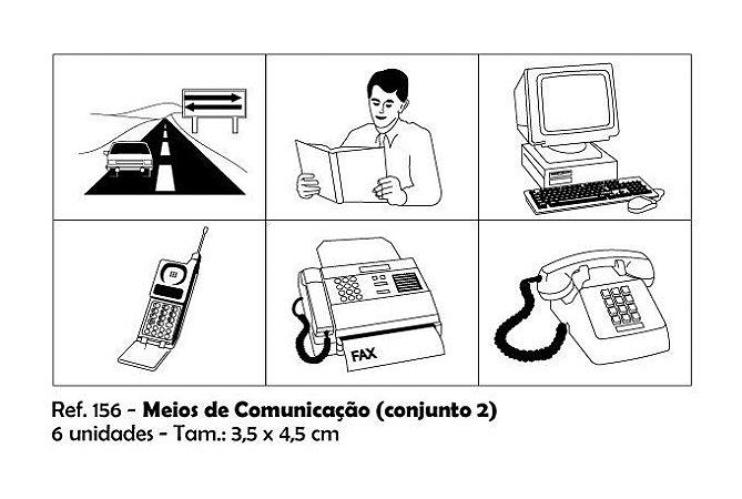 Carimbos Pedagógicos Meios De Comunicação 3 5x4 5cm Conjunto 2