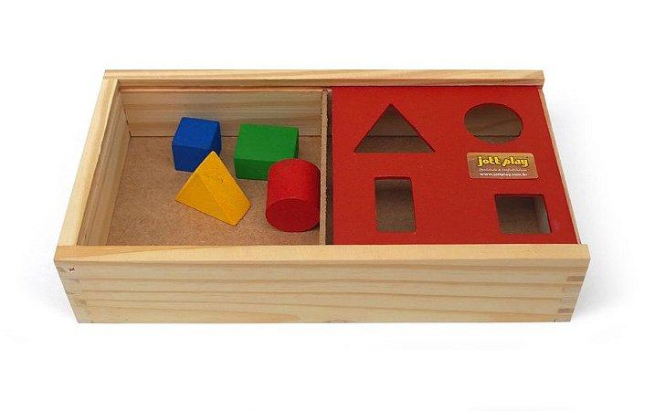 Brinquedo Educativo Passa Figuras De Madeira - JOTTPLAY