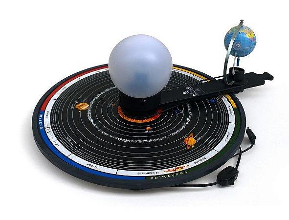 Planetário Escolar Educativo Bivolt Com Base De Madeira