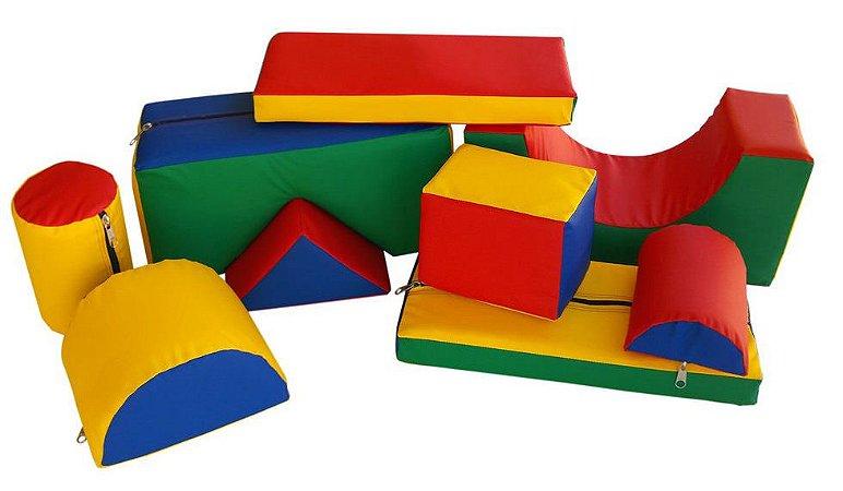 Brinquedo Educativo Blocos Pequenos Espumados Com 09 Peças 45 X 20cm - JOTTPLAY