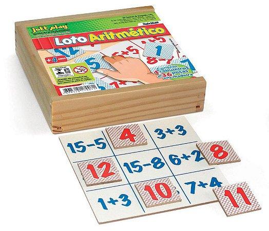 Loto Aritmético Com 40 Peças Em M.D.F