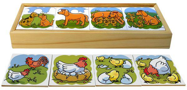 Brinquedo Educativo Sequência Lógica de Animais cx de madeira - JOTTPLAY